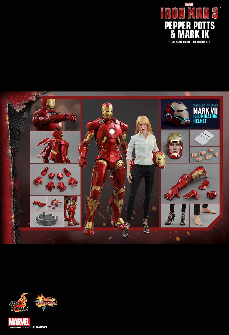 Hot Toys MMS311 IRON MAN 3 - PEPPER POTTS & MARK IX (SE)