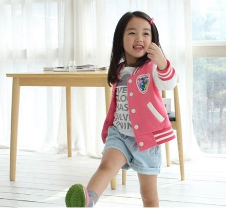 Pre-order ปลีก แจ๊คเก็ต / Size 140 /สีชมพู