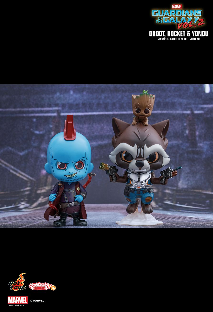 Hot Toys COSB365 GUARDIANS OF THE GALAXY VOL.2 ROCKET, GROOT & YONDU