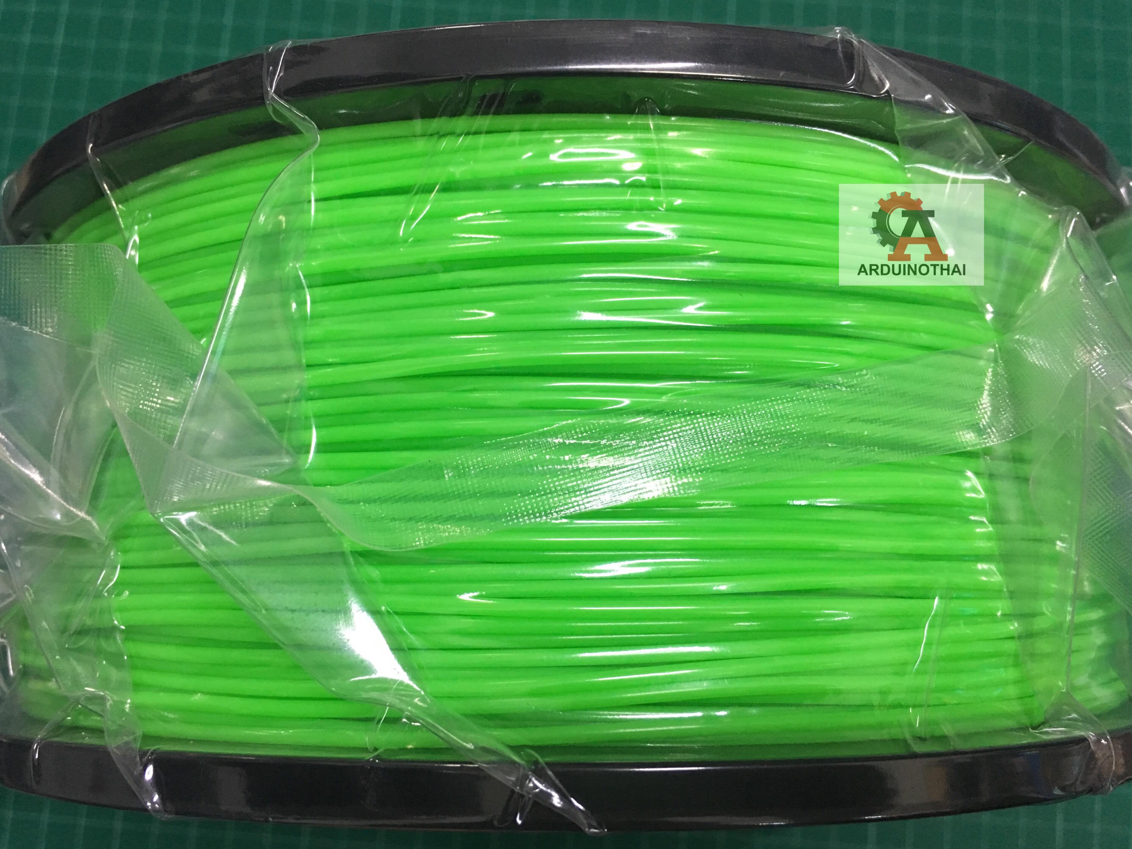 เส้นวัสดุ ABS ม้วนละ 1 กิโลกรัม (FLUORESCENT GREEN)