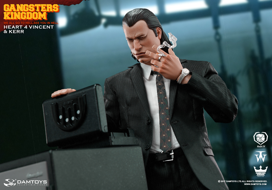 DAMTOYS GK015 Gangsters Kingdom Heart 4 Vincent Kerr 1//6 Scale G18 Gun Model