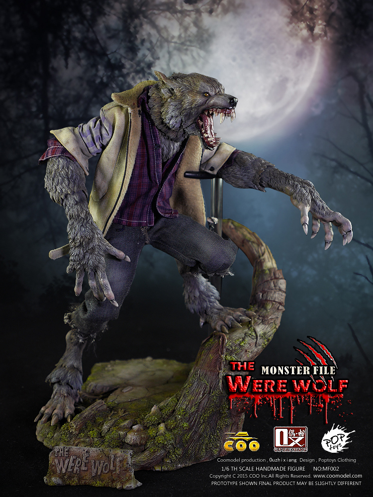 COOMODEL NO:MF002 MONSTER FILE NO.02 - WERE WOLF