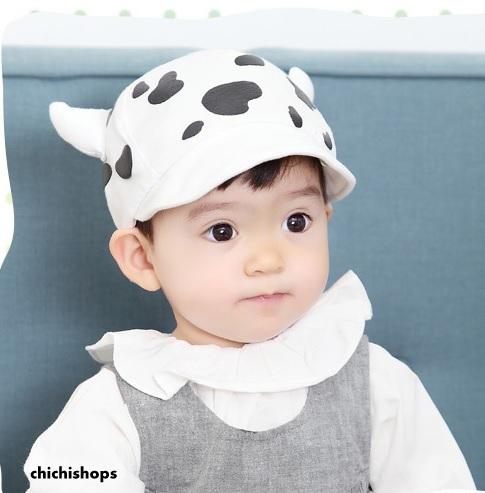 หมวกเด็กลายวัว
