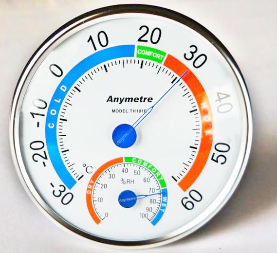 เครื่องวัดอุณหภูมิ และความชื้นสัมพัทธ์ ( Thermometer - Hygrometer )