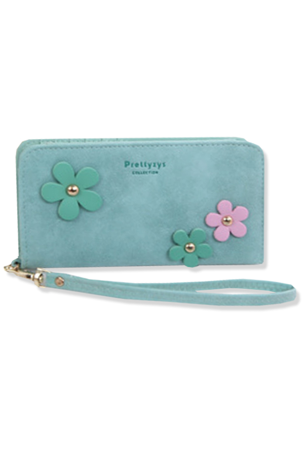 กระเป๋าสตางค์ผู้หญิง ทรงยาว รุ่น Prettyzys - Blue