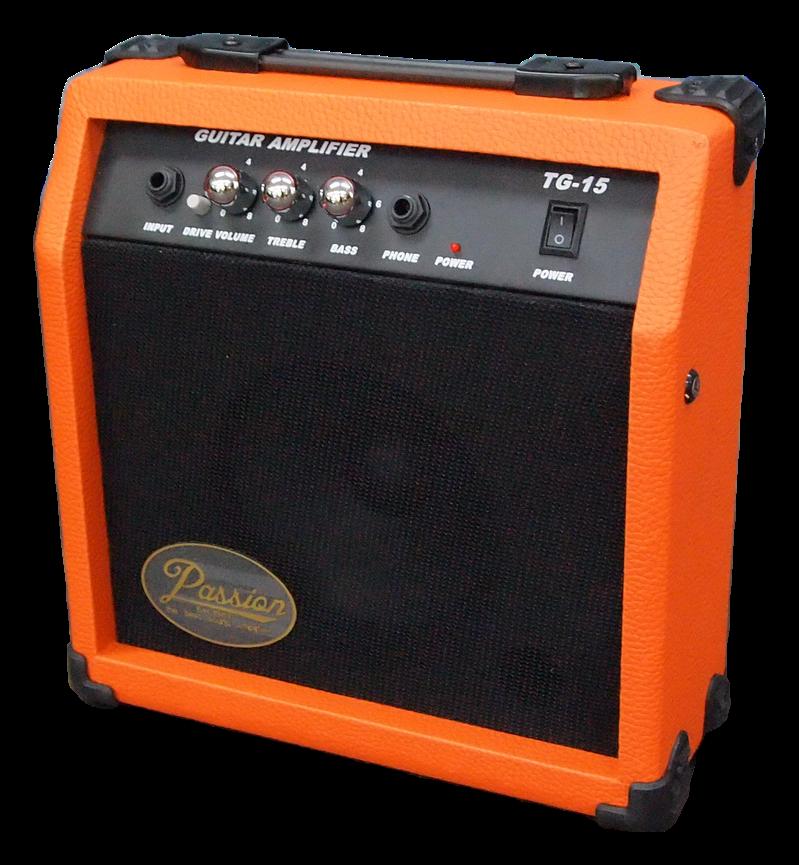 แอมป์กีต้าร์บาง 15 วัต Passion TG-15C สีส้ม
