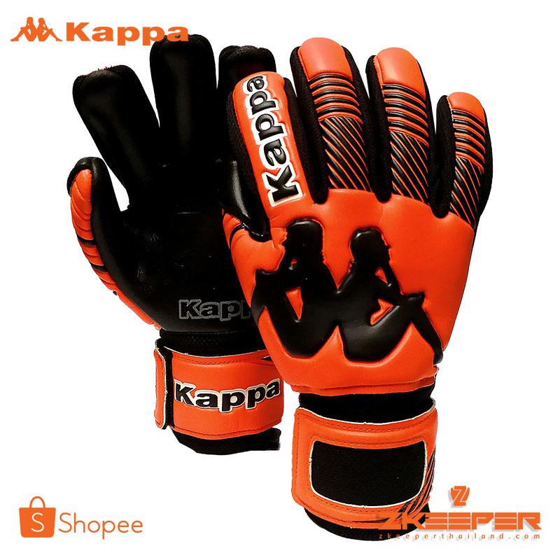 ถุงมือผู้รักษาประตู Kappa รุ่น GV1507OA ส้มดำ