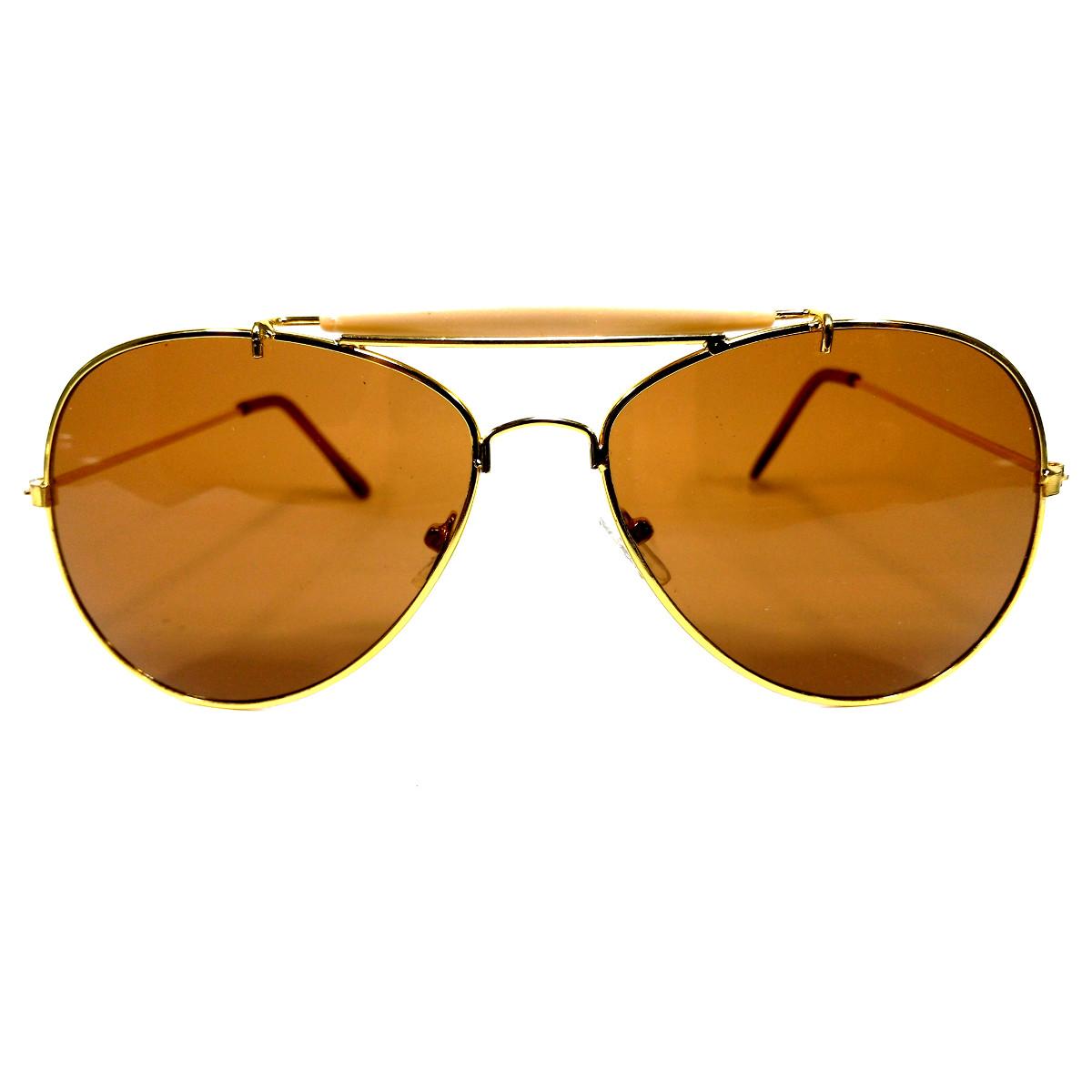แว่นกันแดด แฟชั่น GOLD&BROWN