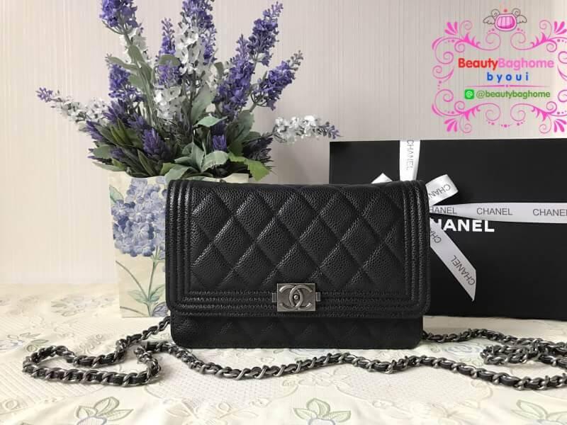 Chanel Woc boy สีดำ งานHiend 1:1