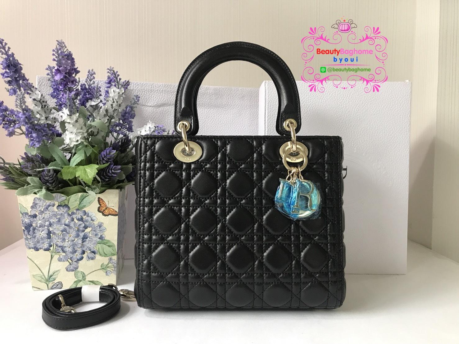 Dior lady สีดำ งานHiend 1:1