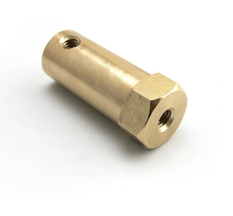 ข้อต่อมอเตอร์หกเหลี่ยม Flange Coupling motor ยึดล้อรถ 4mm ยาว30mm