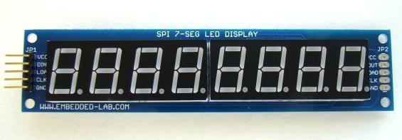 """โมดูล จอแสดงตัวเลข 8 หลัก สีแดง 0.36"""" MAX7219 Digital Tube Display Module"""
