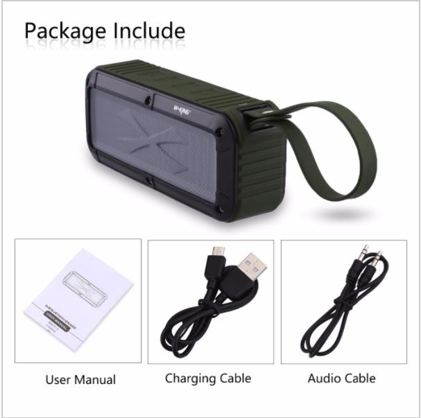 อุปกรณ์ภายในกล่อง - ลำโพงไร้สาย W-KING S20 - สายชาร์จ Micro USB - สาย AUX - คู่มือการใช้งาน