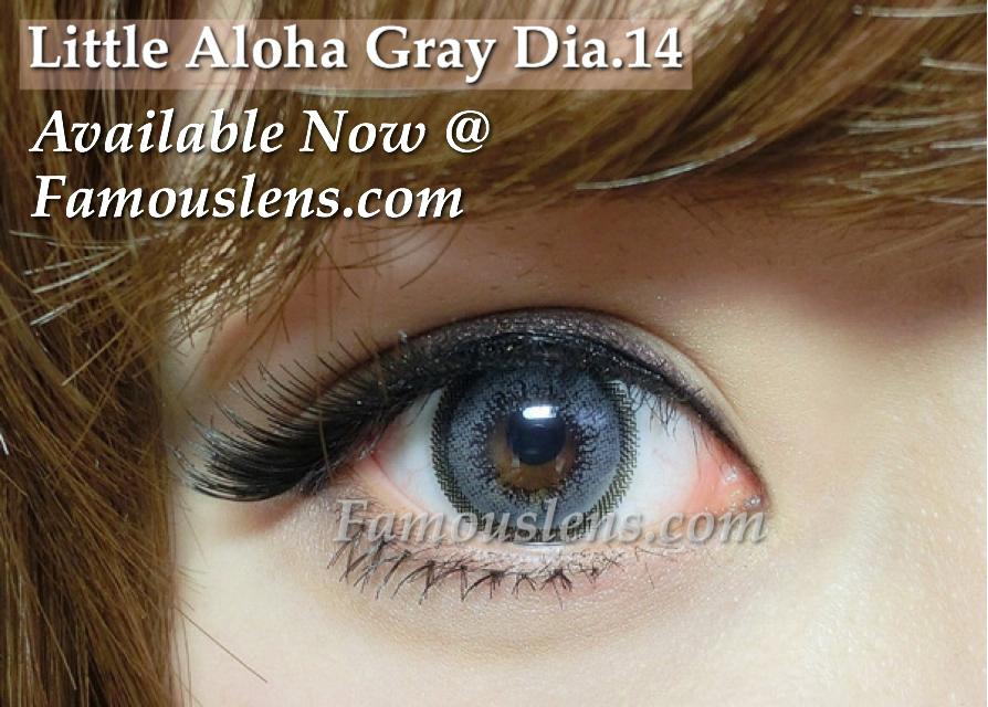 คอนแทคเลนส์สีเทา Little Aloha Gray Dia.14