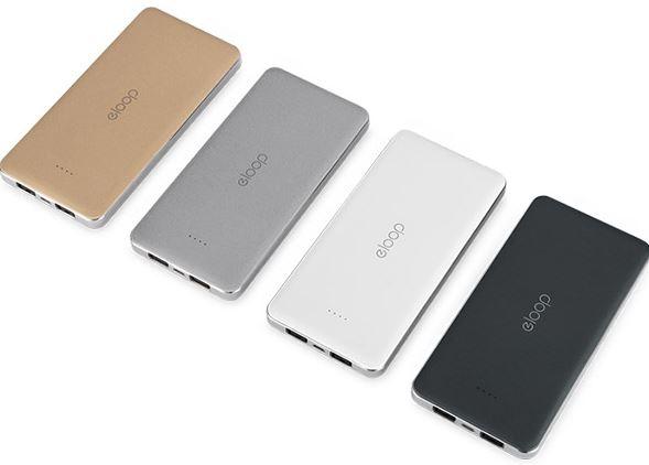 สำหรับชาร์จอุปกรณ์มือถือ สมาร์ทโฟน หูฟังบลูทูธ ลำโพงบลูทูธ เช่น iPhone iPad Samsung Nokia ASUS ZenFone และ แท็บเล็ตต่าง ๆ คุณภาพแบตเตอรี่เกรด A ลิเธียม โพลีเมอร์ (Lithium Polymer) มีให้เลือกทั้งหมด 4 สี (ขาว, ทรายทอง, เทา, ดำ) มี LED สีน้ำเงิน บอกสถานะแบตเตอรี่ 4 ดวง เมื่อความจุแบตเตอรี่ เหลือ 25% 50% 75% 100%