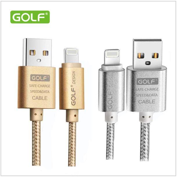 สายชาร์จ Golf Alloy-braided Cable สำหรับ iPhone