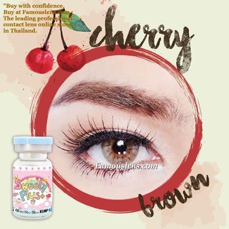 คอนแทคเลนส์สีน้ำตาล Cherry Brown สวีทตี้