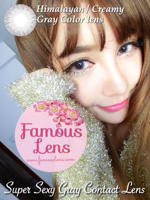 คอนแทคเลนส์สีเทา คอนแทคเลนส์ตาฝรั่ง Creamy Himalayan Gray Contact Lens