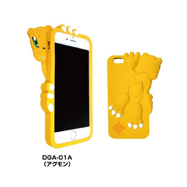 Digimon Adventure iPhone 6/6s Die-Cut Silicon Jacket (Agumon)