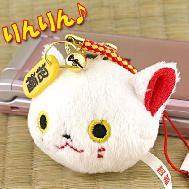 พวงกุญแจแมวนำโชค (สีขาว) ใช้สำหรับห้อยมือถือ ห้อยกระเป๋า พกเป็นเครื่องรางเพื่อความปลอดภัยค่ะ