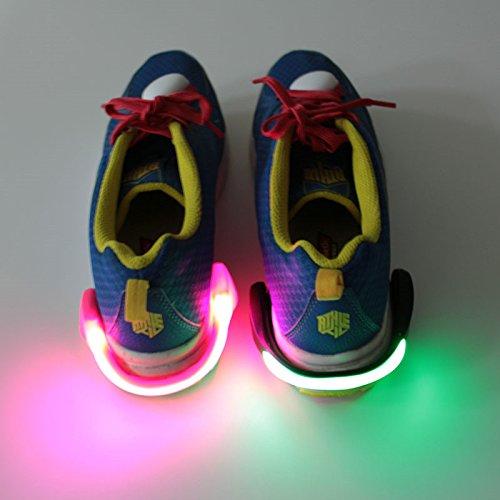 ไฟติดส้นรองเท้า ตอนวิ่งหรือเดินออกกำลังยามค่ำมืด แสงสีขาว(แพ็กคู่) x 2
