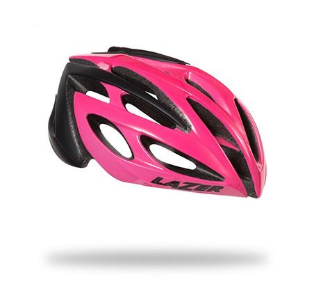 หมวกจักรยาน LAZER O2 สี Flash Pink Black