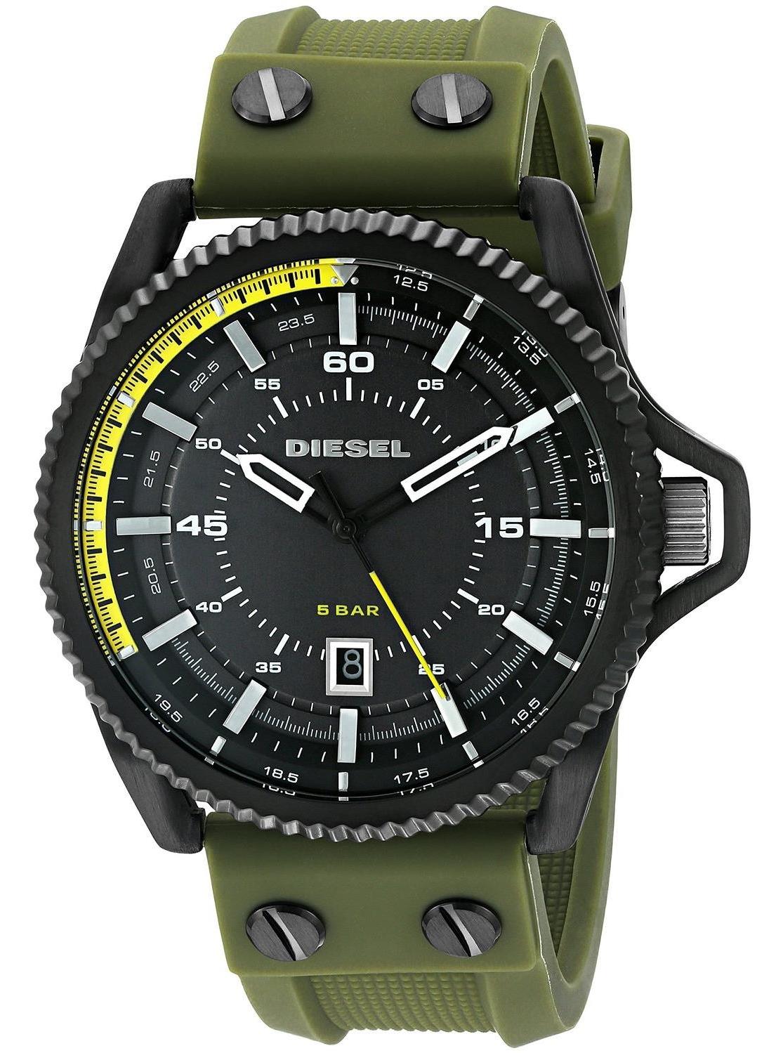 นาฬิกาผู้ชาย Diesel รุ่น DZ1758, Rollcage Green Silicone Strap Watch