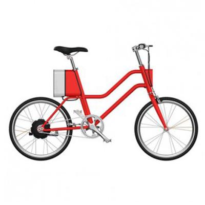 จักรยานไฟฟ้าทรงผู้หญิง Yunbike C1 - สีแดง (Pre-Order)