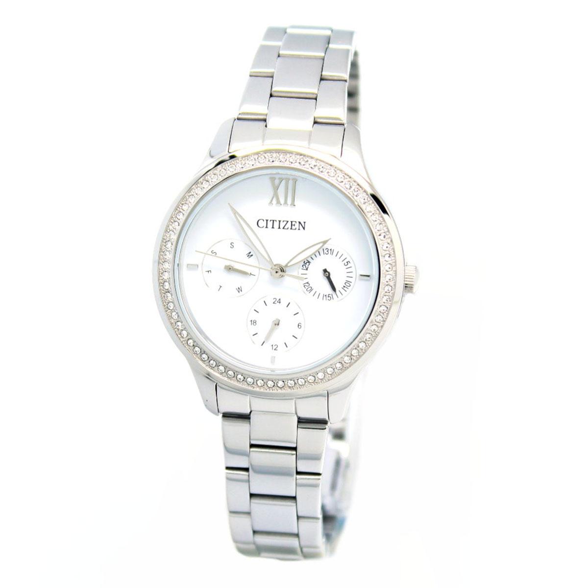 นาฬิกาผู้หญิง Citizen รุ่น ED8150-53A, Dress QUARTZ Analog Silver Watch