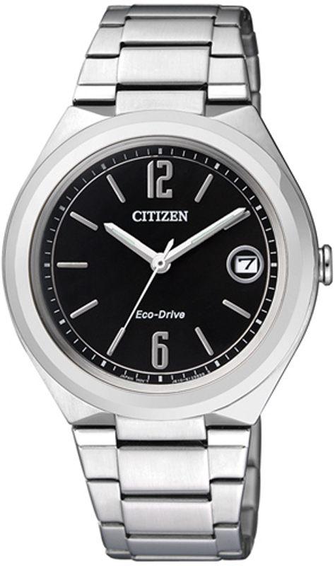 นาฬิกาข้อมือผู้หญิง Citizen Eco-Drive รุ่น FE6020-56E, Analog Sport Silver