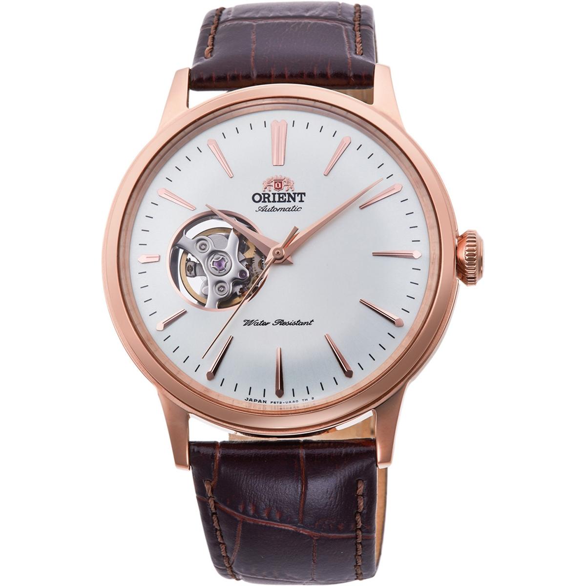 นาฬิกาผู้ชาย Orient รุ่น RA-AG0001S10B, Bambino Open-Heart Automatic Rosegold