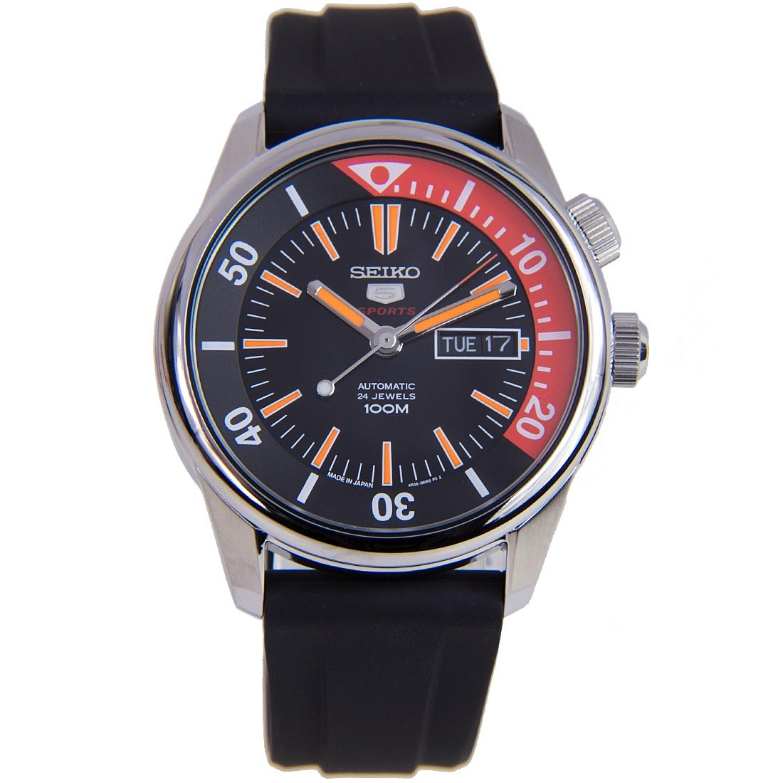 นาฬิกาผู้ชาย Seiko รุ่น SRPB31J1, Seiko 5 Sports Automatic Japan