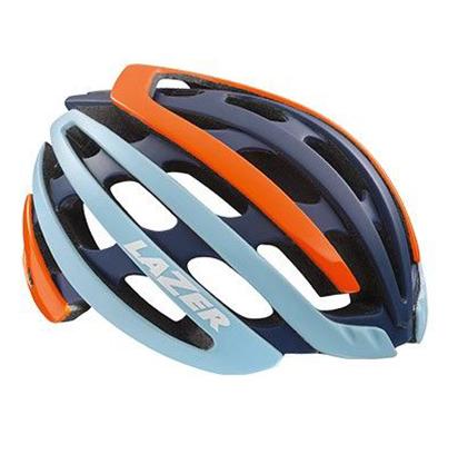 หมวกจักรยาน Z1 ‐ FLASH ORANGE BLUE+LED