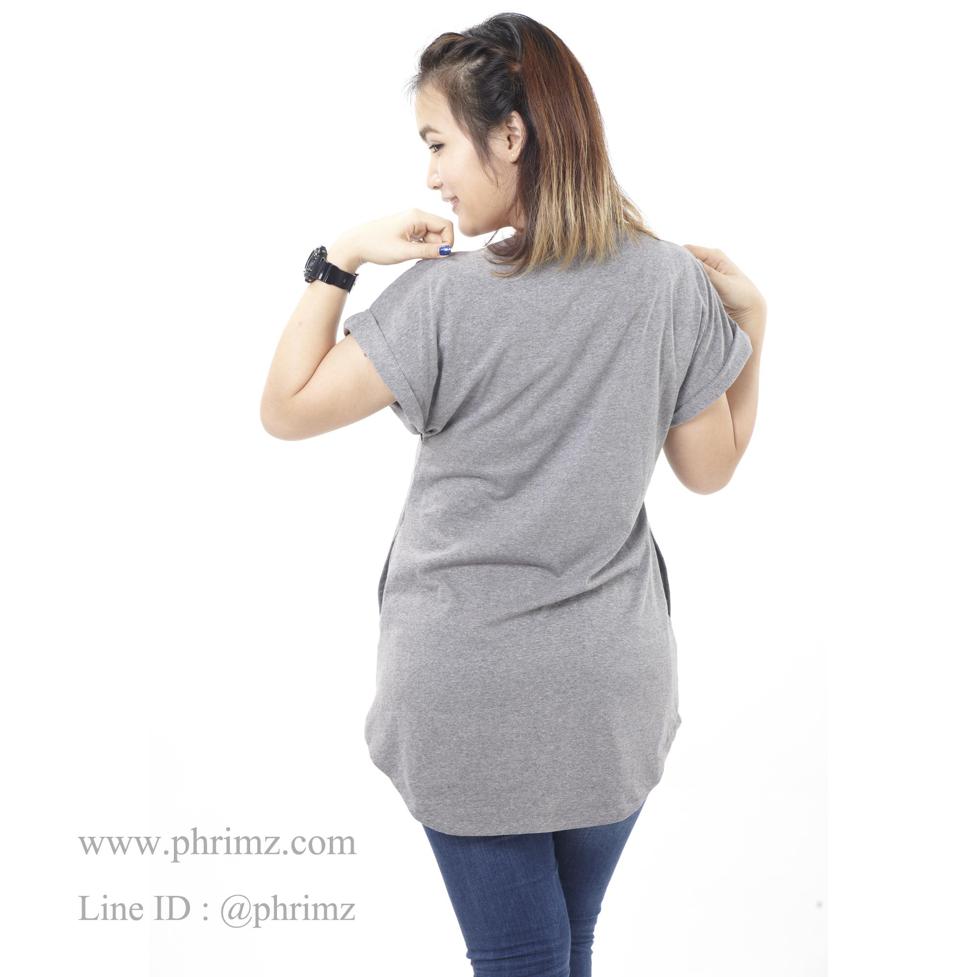 เสื้อให้นม Phrimz : Franki Breastfeeding Top - Dark Gray