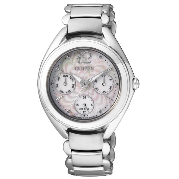 นาฬิกาข้อมือผู้หญิง Citizen Eco-Drive รุ่น FD2020-54D, Analog Business Silver
