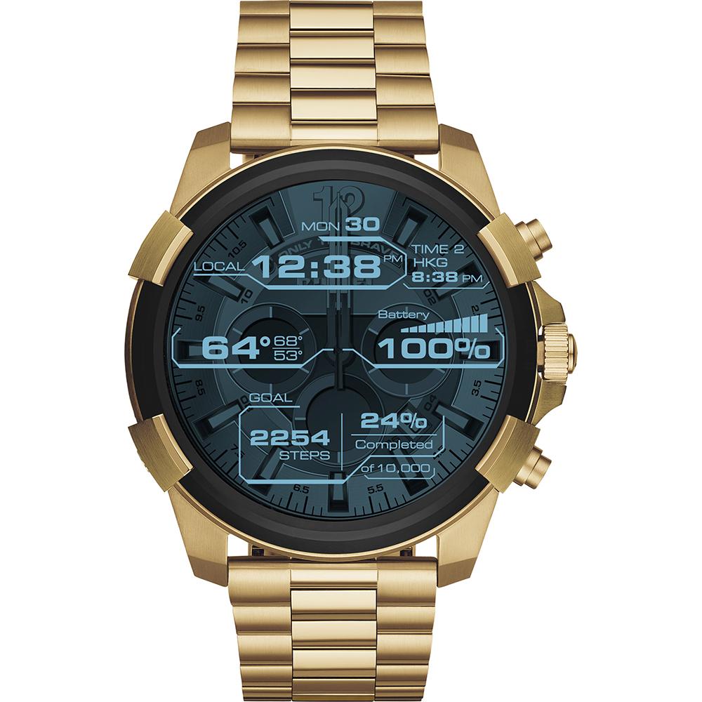 นาฬิกาผู้ชาย Diesel รุ่น DZT2005, Diesel On Full Guard Touchscreen Smartwatch Gold Steel Bracelet Men's Watch
