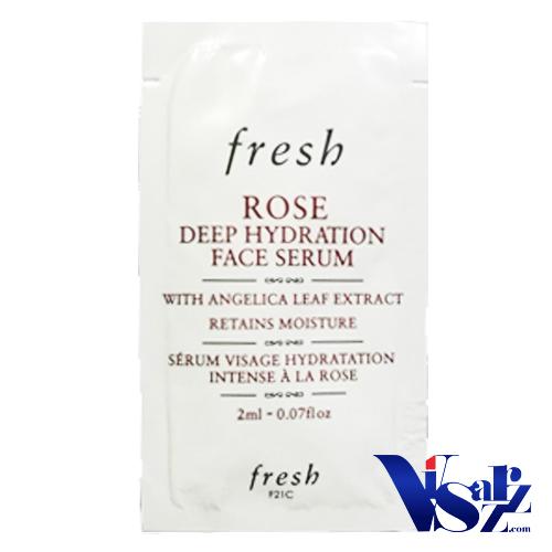 (Tester 2mLx 3ซอง= 6mL) Fresh Rose Deep Hydration Face Serum เซรั่มปลอบประโลมผิว ช่วยเติมน้ำให้ผิวได้อย่าง ทรงประสิทธิภาพและช่วยรักษาระดับความชุ่มชื้นในผิว เพื่อเผยผิวที่แลดูสุขภาพดี