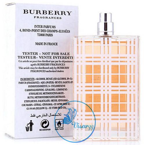 (กล่อง Tester ลด 60%) Burberry Brit EDT for Women Natural Spray 100 mL กลิ่นอายความหอมละมุน แฝงด้วยเสน่ห์ของสาวเซ็กซี่ สัมผัสสดชื่น