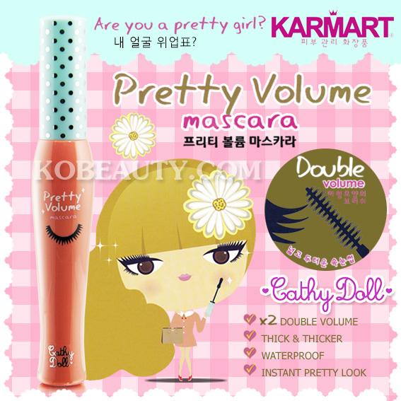 Cathy Pretty Volume Mascara (karmart) / เคที่ ดอลล์ พริตตี้ โวลลุ่ม มาสตาร่า แบบเพิ่มความหนา