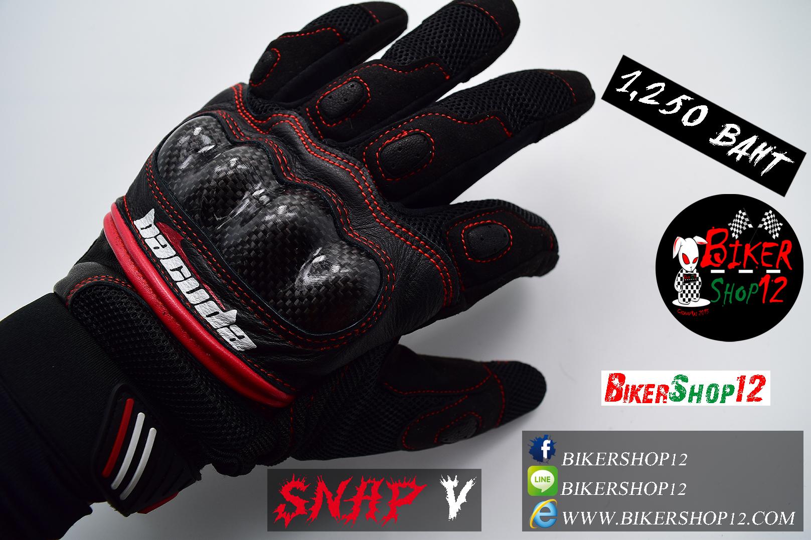 ถุงมือReal SNAP V สีดำ-แดง