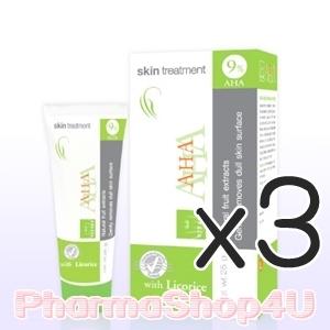 (ซื้อ3 ราคาพิเศษ) VITARA AHA 9% Skin Treatment Cream 25G ไวทาร่า เอ เอช เอ สารสกัดจากกรดผลไม้ ช่วยให้ผิวกระจ่างใสขึ้น ลดฝ้า กระ จุดด่างดำบนใบหน้า