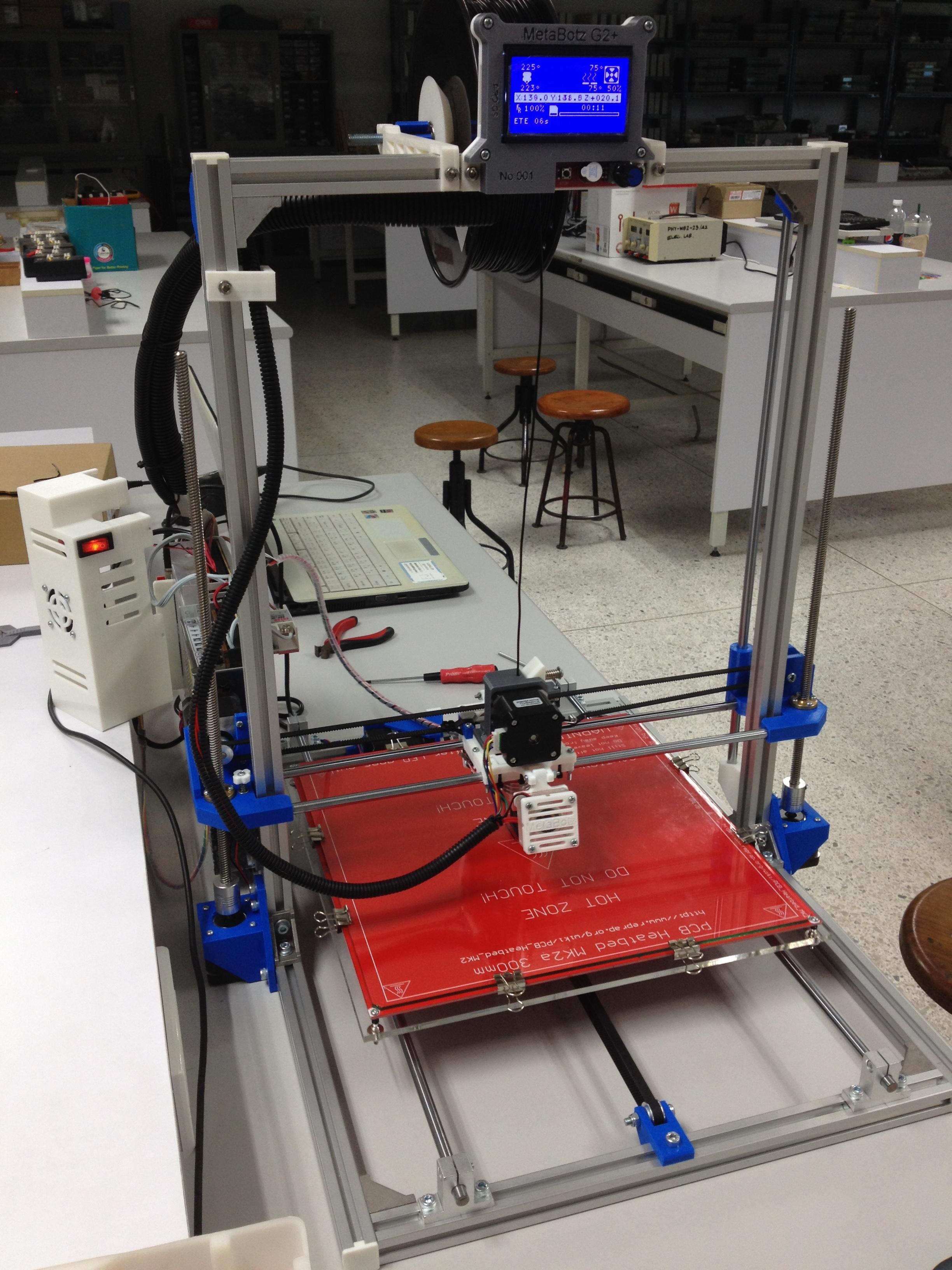 """เครื่องพิมพ์สามมิติ 3D printer """"MetaBotz G2+"""" พิมพ์ใหญ่สุดที่ 300x300x350mm รับประกัน 6 เดือน"""