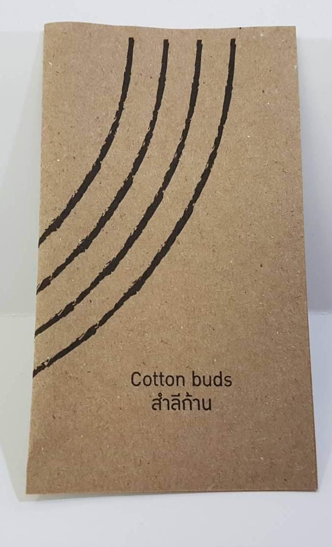 สำลีก้าน 4ชิ้น แพคซองกระดาษสีน้ำตาล 1,000ชุด