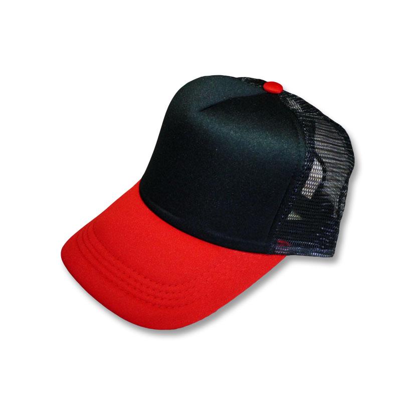 หมวกแก๊ปตาข่าย สีดำแดง by Season Tales
