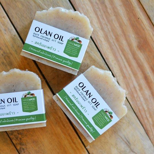 สบู่น้ำมันมะพร้าวสกัดเย็น สูตรสครับมะพร้าว Coconut Scrub Soap