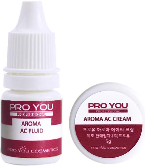 Proyou Aroma AC Double Collection 5g+5ml (ครีมและเซรั่มบำรุงผิวหน้าที่มีประสิทธิภาพในการลดการอักเสบสำหรับผิวเป็นสิว และลดความมันของผิวให้สมดุลกัน)