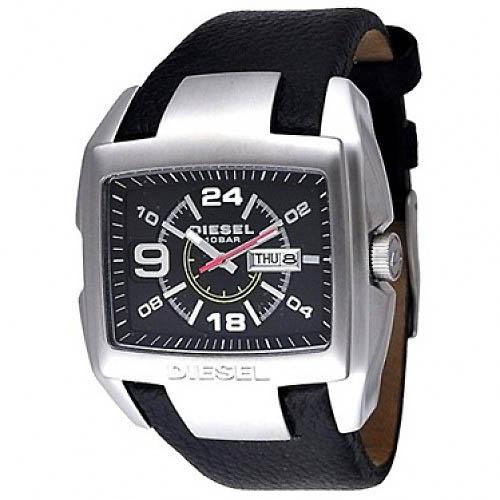 นาฬิกาข้อมือ ดีเซล Diesel Men's Black Leather Strap Watch รุ่น DZ1215