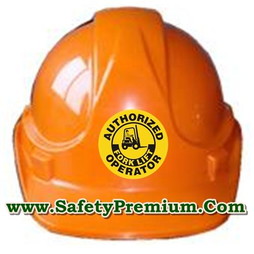 สติ้กเกอร์ติดหมวกโฟร์คลิฟต์ Authorized Forklift Operator