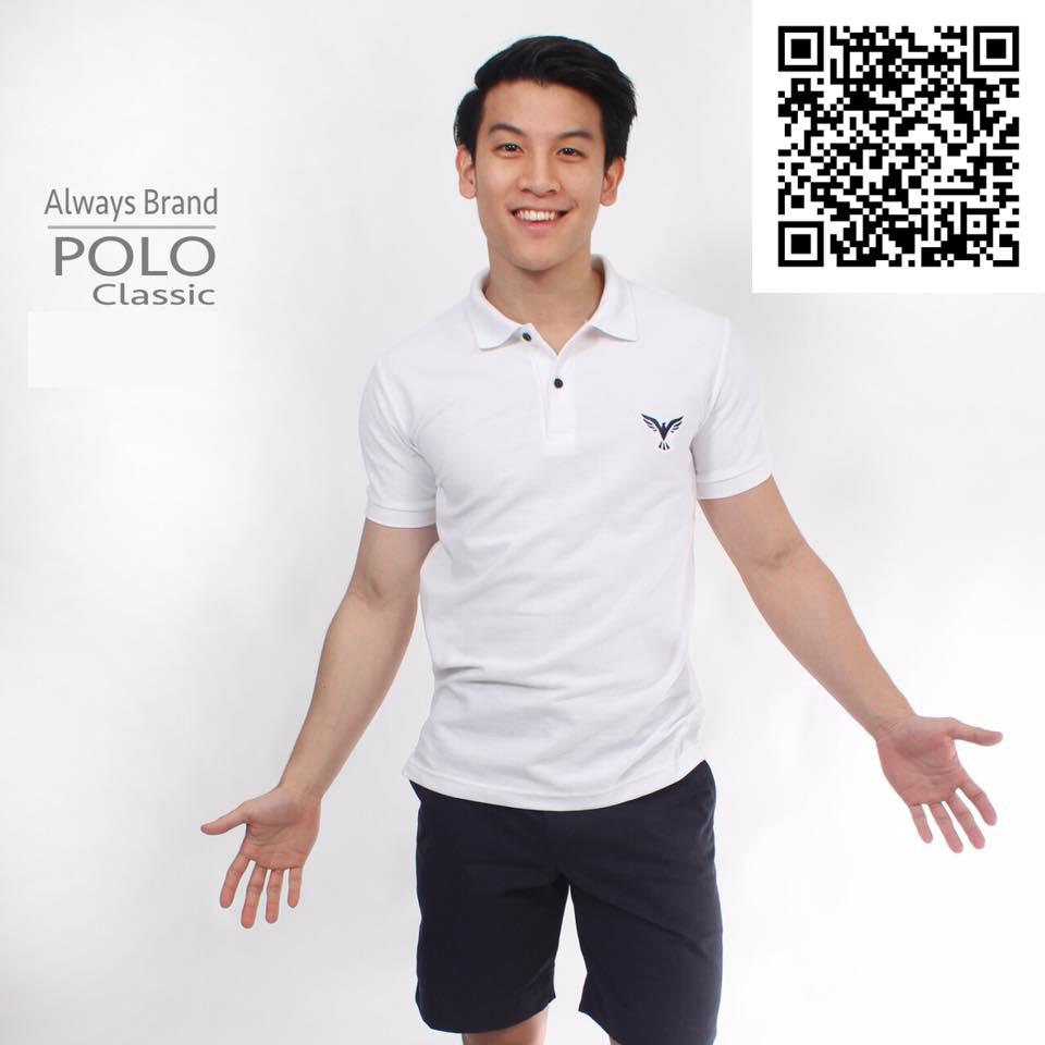 เสื้อโปโล Always - POLO รุ่น Classic | White