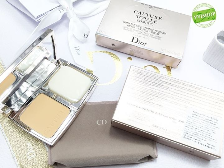 Dior Capture Totale Compact Triple Correcting Powder Makeup SPF 20 PA +++ # 021 : สำหรับผิวขาวกลางๆ โทนเหลือง * พิเศษลด 35%